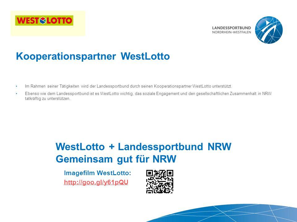6 | Thema der Präsentation, Duisburg 26.10.2009  Im Rahmen seiner Tätigkeiten wird der Landessportbund durch seinen Kooperationspartner WestLotto unterstützt.
