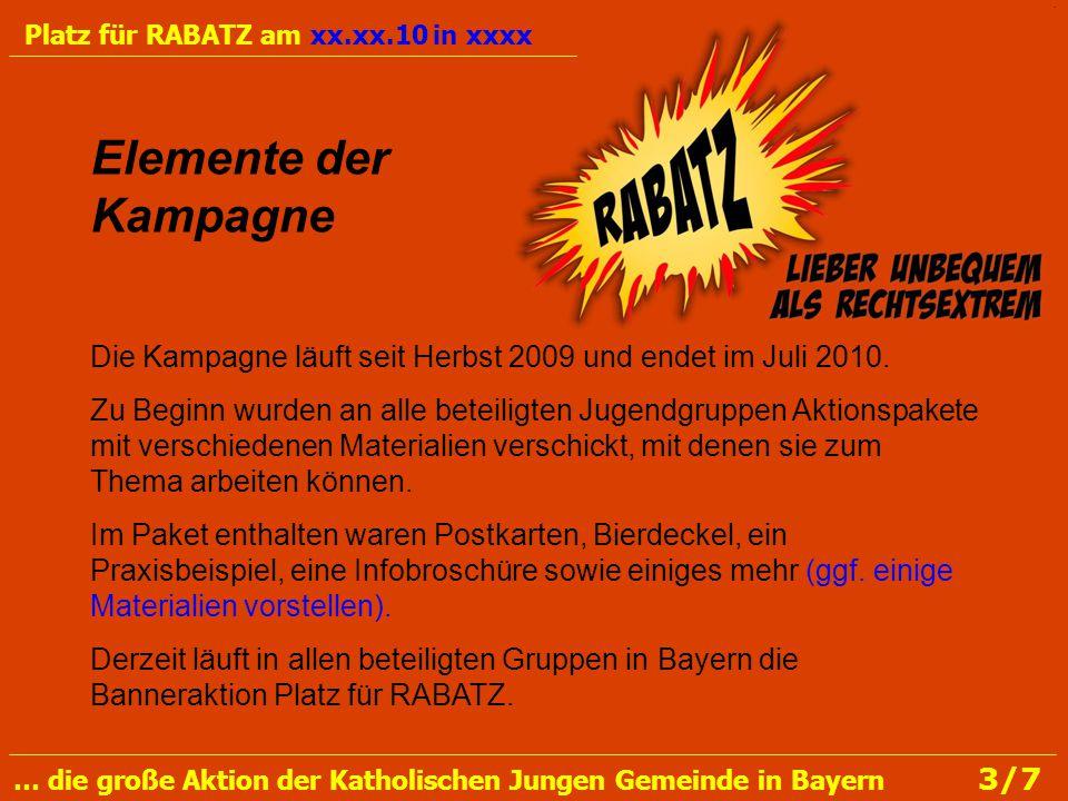 Die Kampagne läuft seit Herbst 2009 und endet im Juli 2010.