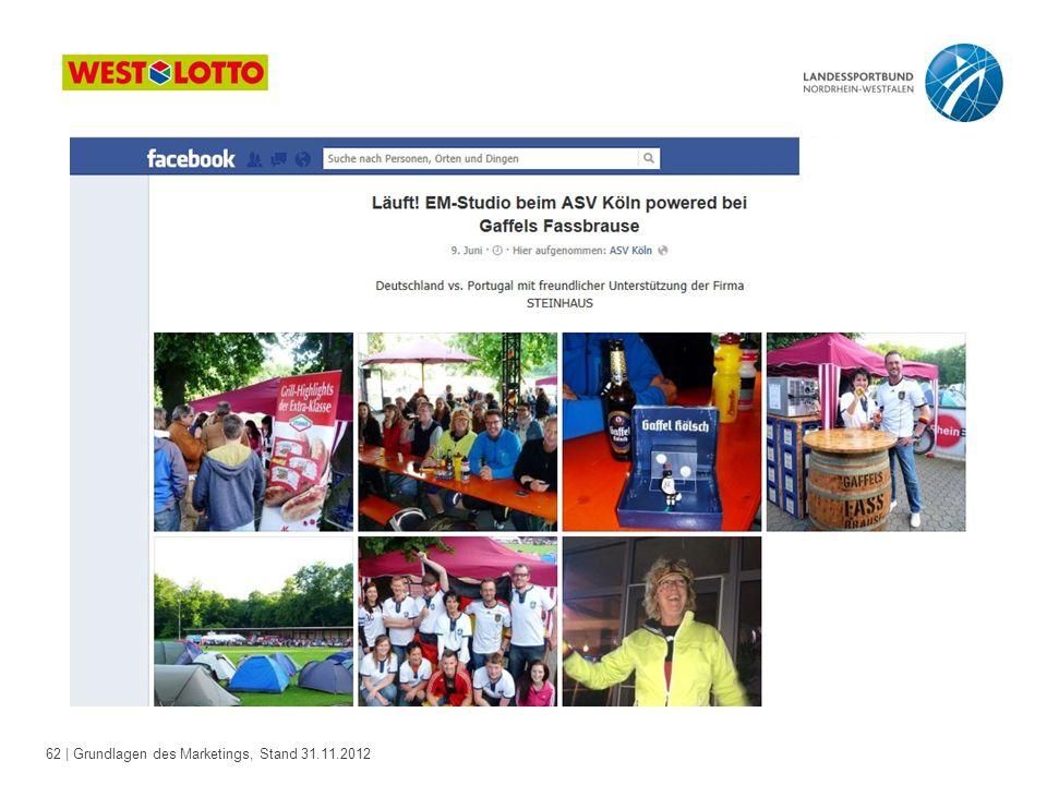 62 | Grundlagen des Marketings, Stand 31.11.2012