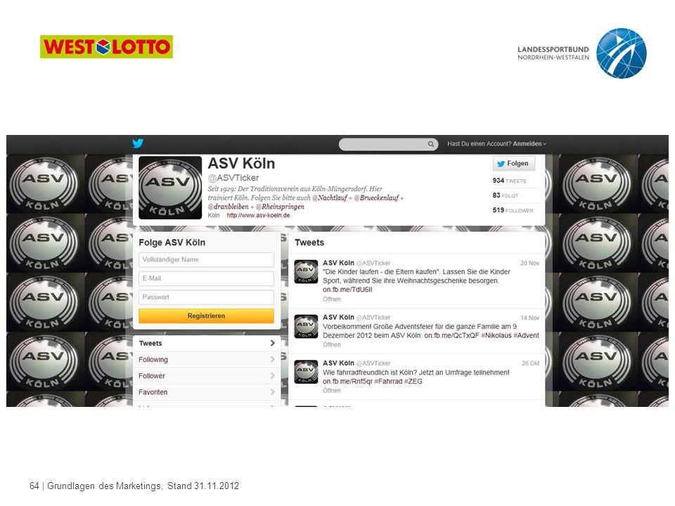 64 | Grundlagen des Marketings, Stand 31.11.2012