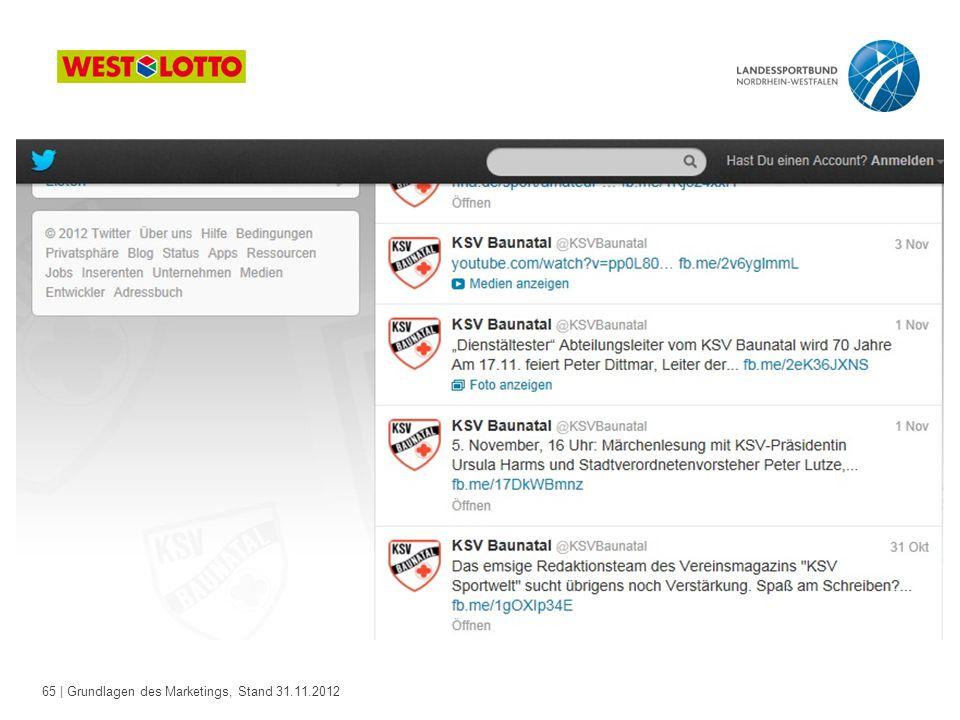 65 | Grundlagen des Marketings, Stand 31.11.2012