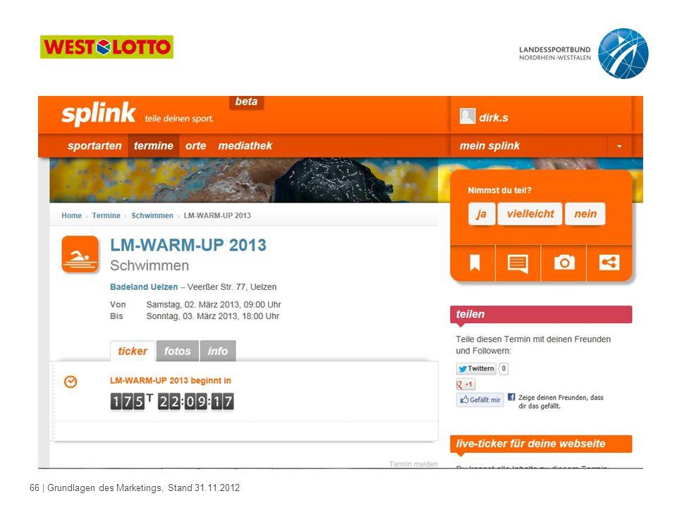 66 | Grundlagen des Marketings, Stand 31.11.2012