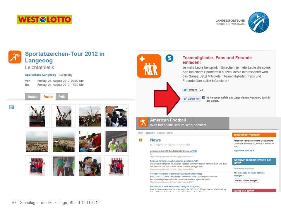 67 | Grundlagen des Marketings, Stand 31.11.2012