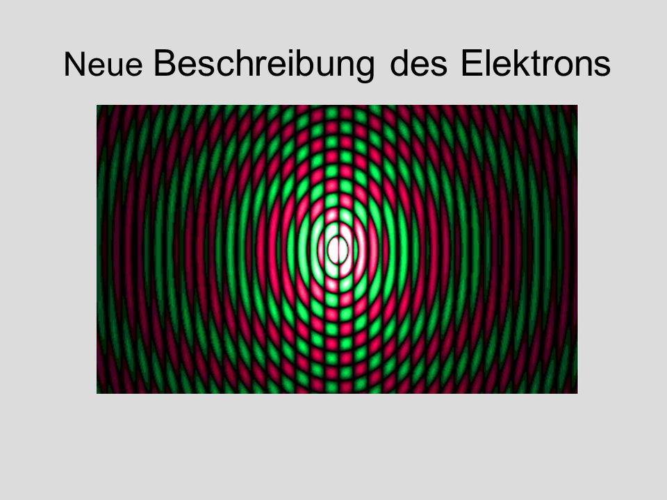 Neue Beschreibung des Elektrons