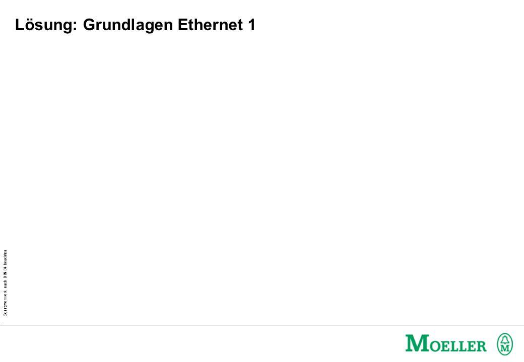 Schutzvermerk nach DIN 34 beachten Lösung: Grundlagen Ethernet 1