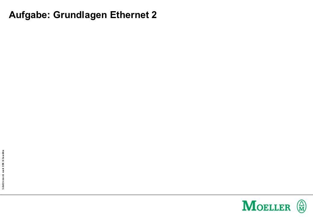Schutzvermerk nach DIN 34 beachten Aufgabe: Grundlagen Ethernet 2