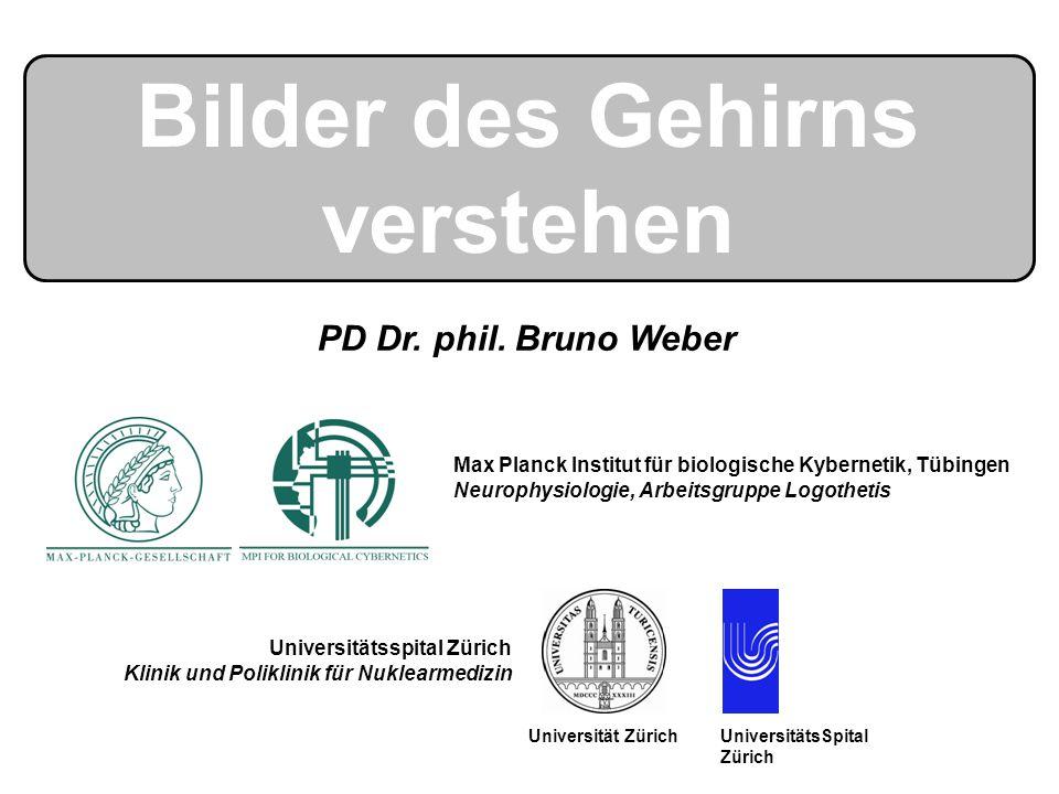 Bilder des Gehirns verstehen Max Planck Institut für biologische Kybernetik, Tübingen Neurophysiologie, Arbeitsgruppe Logothetis UniversitätsSpital Zü