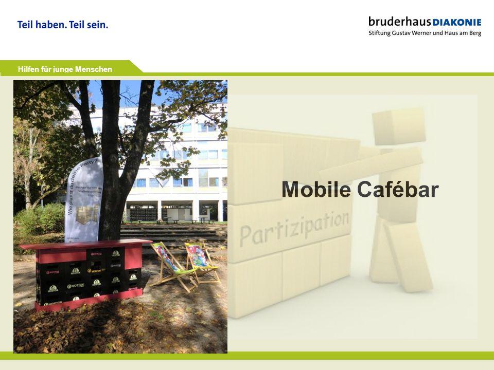 Hilfen für junge Menschen Mobile Cafébar
