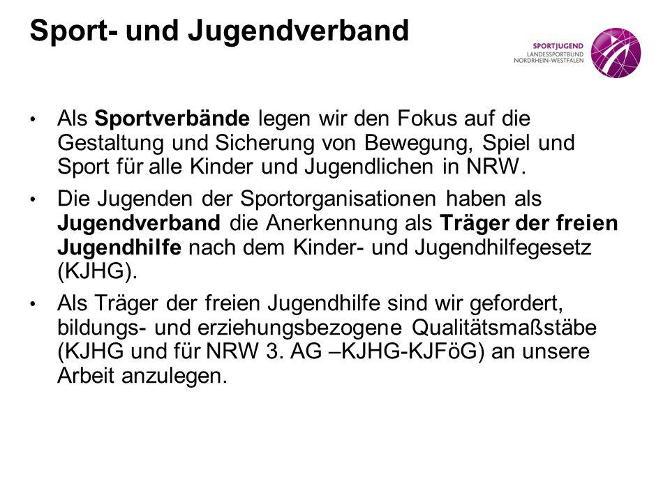 Als Sportverbände legen wir den Fokus auf die Gestaltung und Sicherung von Bewegung, Spiel und Sport für alle Kinder und Jugendlichen in NRW.