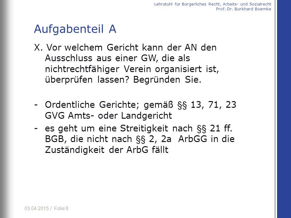 03.04.2015 / Folie 29 (cc) auf Grund Überbrückungszweck und Konzeption des § 4 Abs.