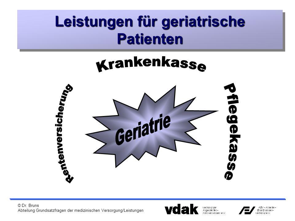 © Dr. Bruns Abteilung Grundsatzfragen der medizinischen Versorgung/Leistungen Leistungen für geriatrische Patienten