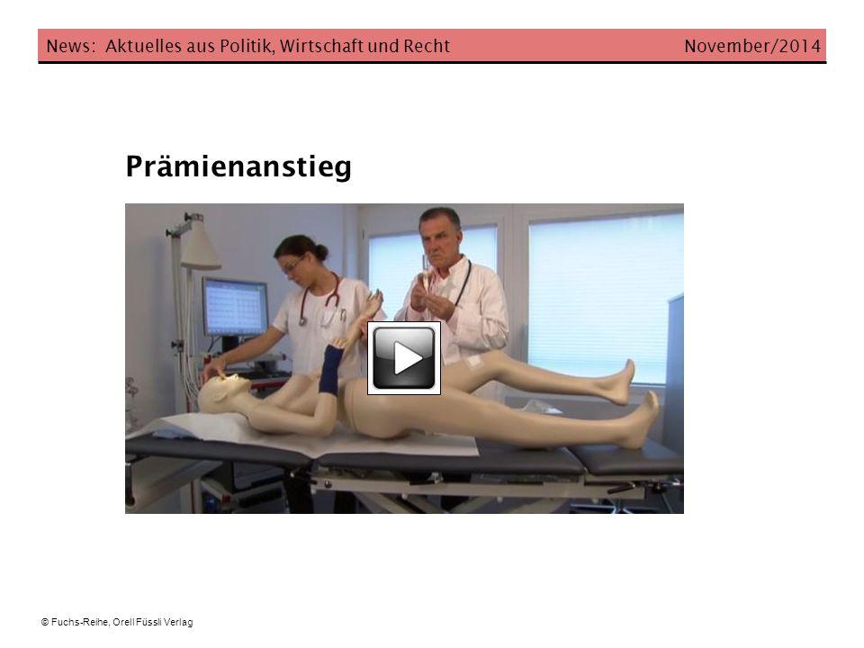 Prämienanstieg News: Aktuelles aus Politik, Wirtschaft und Recht November/2014 © Fuchs-Reihe, Orell Füssli Verlag