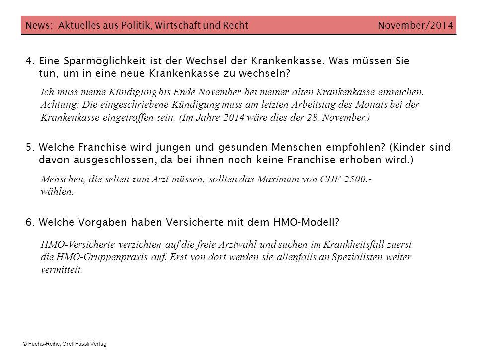 News: Aktuelles aus Politik, Wirtschaft und Recht November/2014 7.