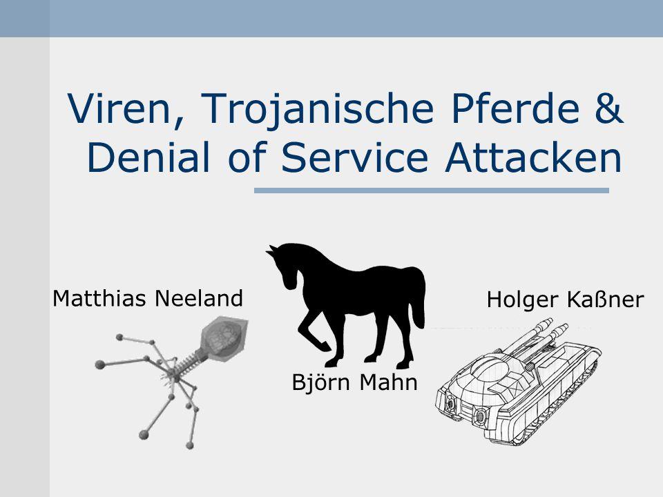 DDoS Distributed Denial of Service Koordinierte DoS-Attacken Effektiver als DoS Opfer: Yahoo, eBay Thema: Denial of ServiceHolger Kaßner