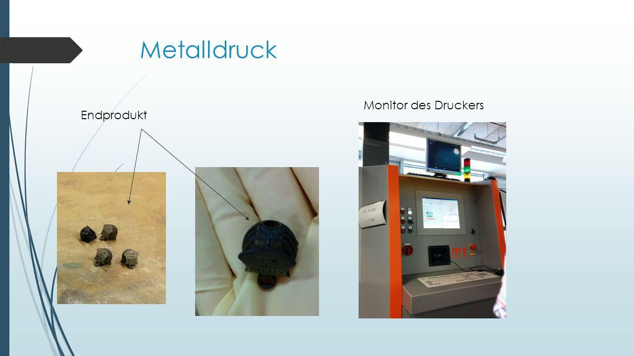 Metalldruck Endprodukt Monitor des Druckers
