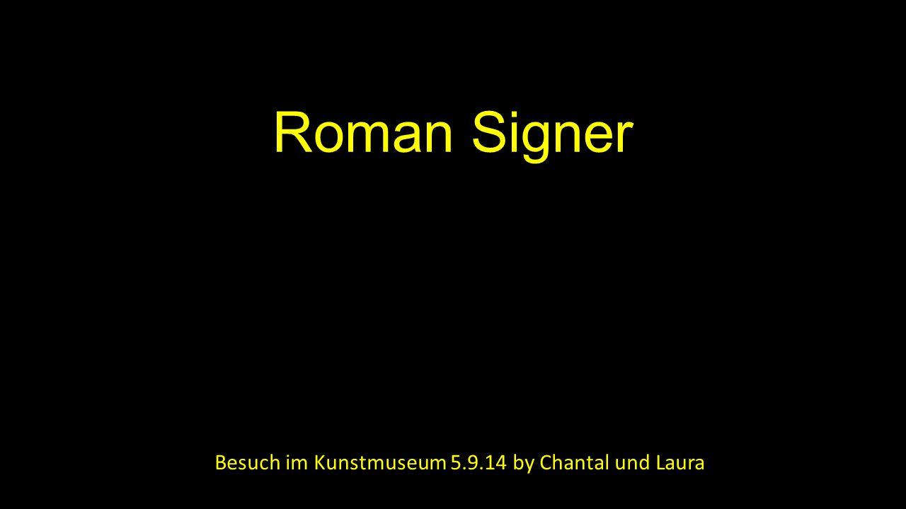Roman Signer Besuch im Kunstmuseum 5.9.14 by Chantal und Laura