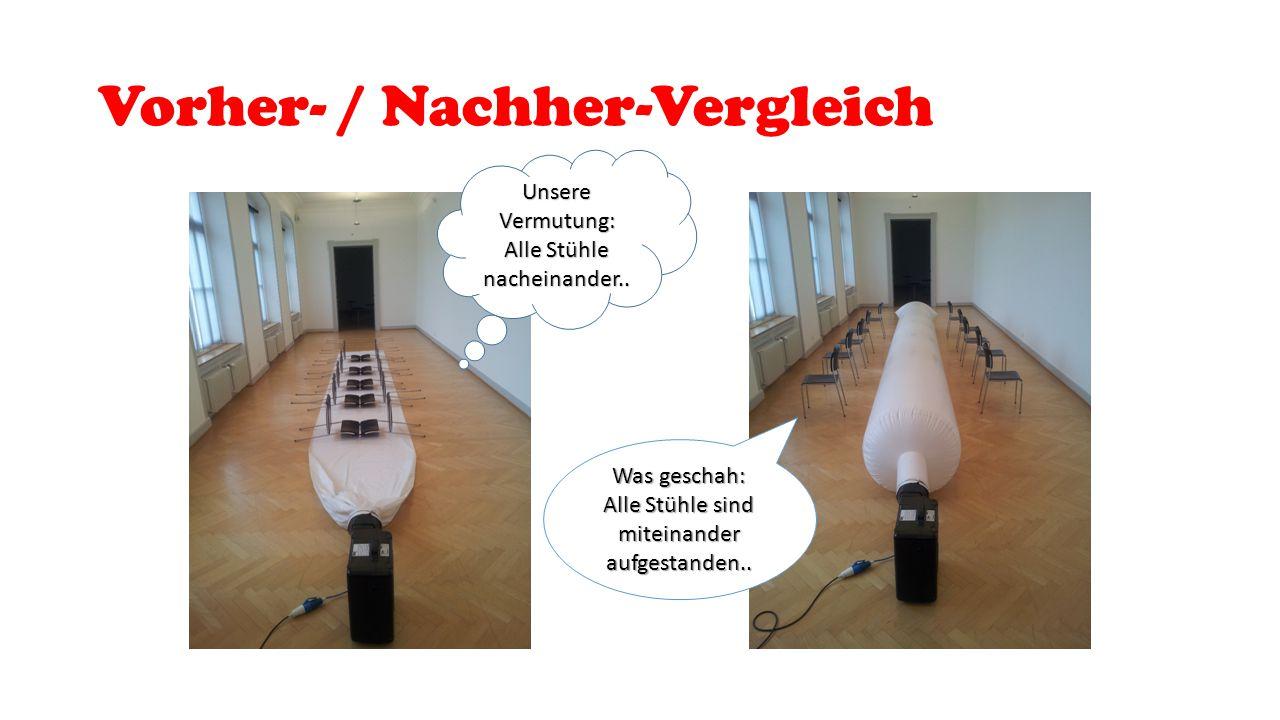 Vorher- / Nachher-Vergleich Unsere Vermutung: Alle Stühle nacheinander..