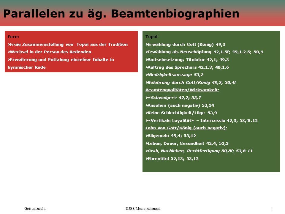 GottesknechtIIJES/Monotheismus4 Parallelen zu äg.
