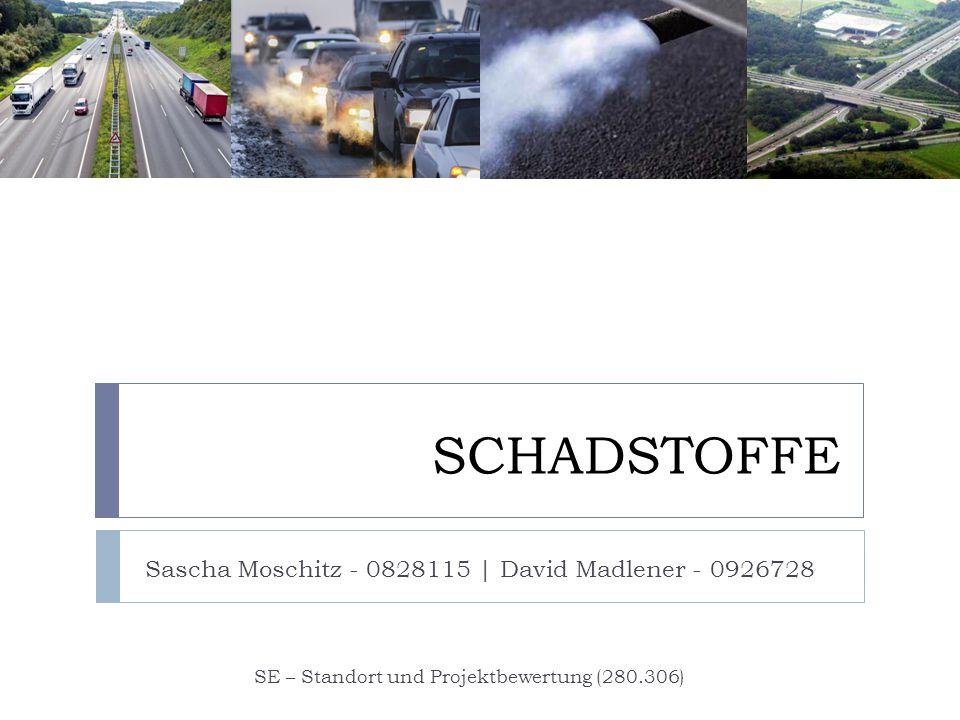 SCHADSTOFFE Sascha Moschitz - 0828115 | David Madlener - 0926728 SE – Standort und Projektbewertung (280.306)