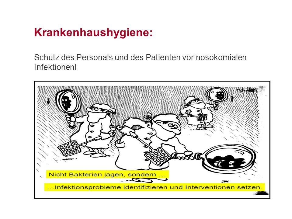 Krankenhaushygiene: Schutz des Personals und des Patienten vor nosokomialen Infektionen!