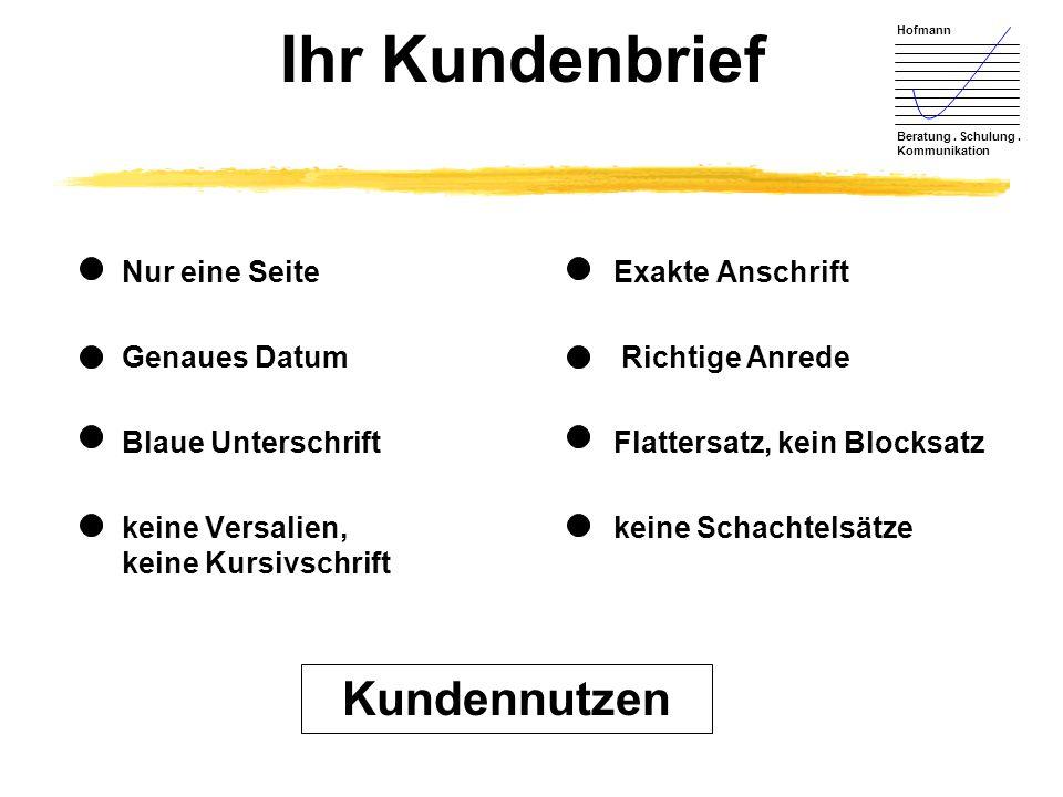 Hofmann Beratung.Schulung. Kommunikation Mundpropaganda und mehr...