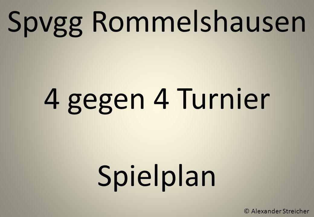 Spvgg Rommelshausen 4 gegen 4 Turnier Spielplan © Alexander Streicher