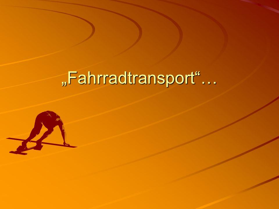 """""""Fahrradtransport""""…"""