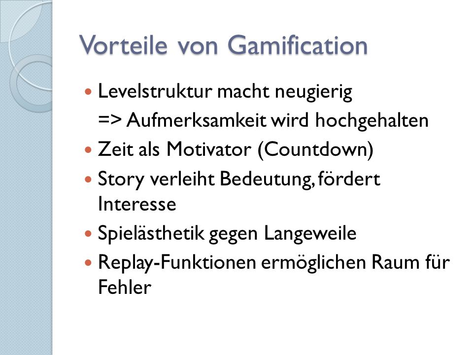 Theoretische Modelle hinter Gamification Extrinsische vs.
