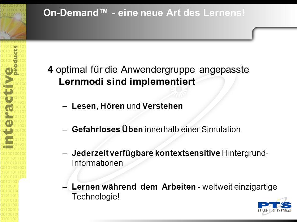 On-Demand™ - eine neue Art des Lernens. das Kompendium im Markt für Computer Based Trainings.