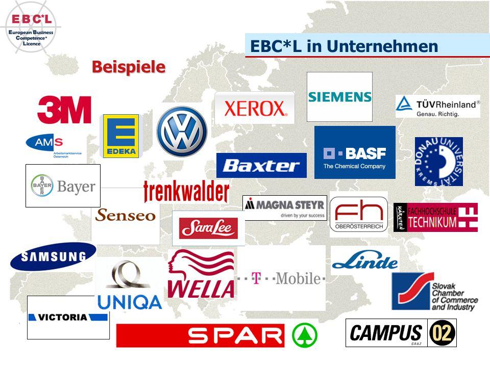 EBC*L in der Erwachsenenbildung Fast alle renommierten Bildungsinstitute bieten Vorbereitungskurse für die Prüfung zum Europäischen Wirtschaftsführerschein an.
