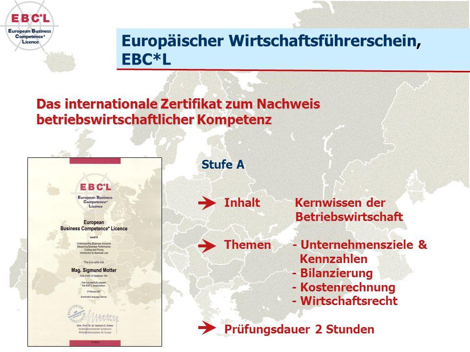 EBC*L LevelsEBC*L Stufen Für jeden Karriereschritt die notwendige betriebswirtschaftliche Kompetenz