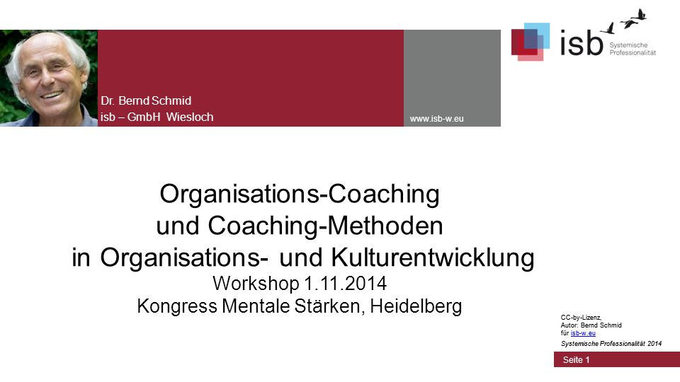 CC-by-Lizenz, Autor: Bernd Schmid für isb-w.euisb-w.eu Systemische Professionalität 2014 Seite 42 Definition Führung Führen heißt, jemanden durch Kommunikation bewegen, sinnvoll bei Wirklichkeitsgestaltung mitzuwirken.
