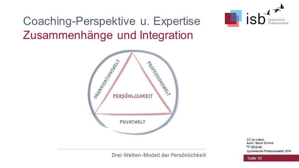 CC-by-Lizenz, Autor: Bernd Schmid für isb-w.euisb-w.eu Systemische Professionalität 2014 Coaching-Perspektive u.
