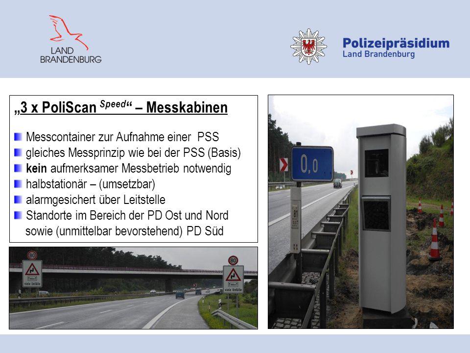 6 x Videowagen- Provida 2000 modular mobiles Verkehrsüberwachungssystem zur beweissicheren Dokumentation mittels Videoaufzeichnung Messprinzip: Weg- Zeit- Berechnung Haupteinsatzgebiet BAB, Fernstraßen, aber auch auf den anderen Straßenklassen einzusetzen Verfolgung von (Verkehrs) -Straftat bzw.