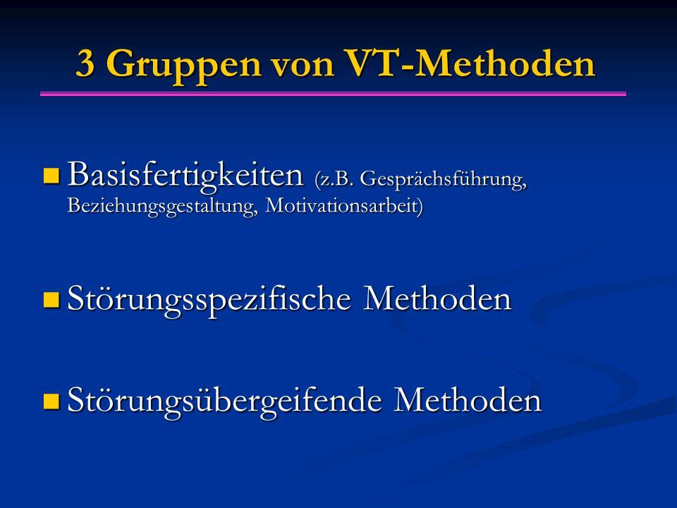 3 Gruppen von VT-Methoden Basisfertigkeiten (z.B.