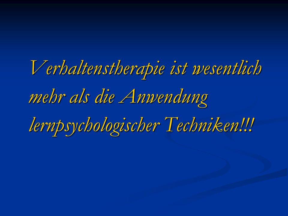 Bewertung der VT: Vorteile/Stärken Relative Bescheidenheit und Orientierung an konkreten Zielen.