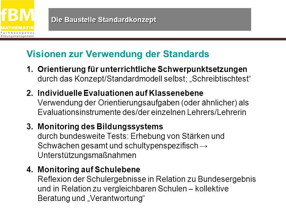 Die Baustelle Standardkonzept Visionen zur Verwendung der Standards 1.