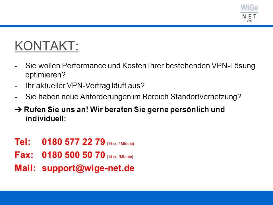 KONTAKT: -Sie wollen Performance und Kosten Ihrer bestehenden VPN-Lösung optimieren.