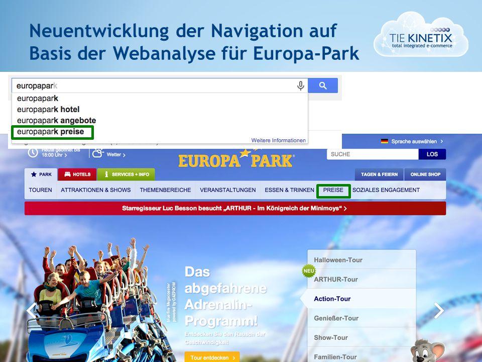5 Neuentwicklung der Navigation auf Basis der Webanalyse für Europa-Park