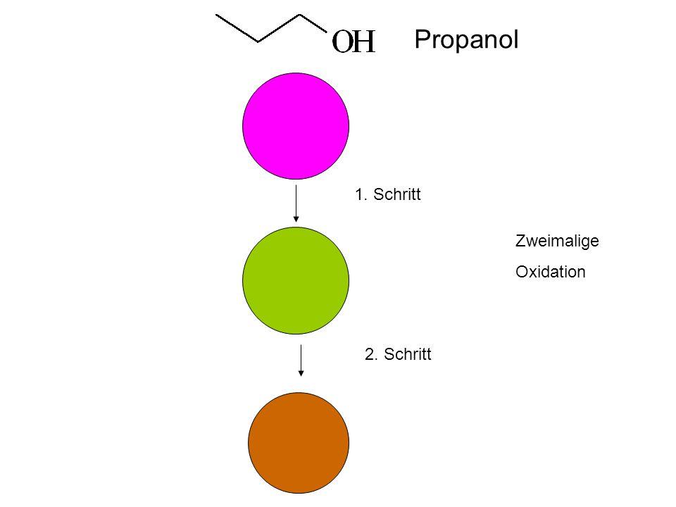 1. Schritt 2. Schritt Zweimalige Oxidation Propanol