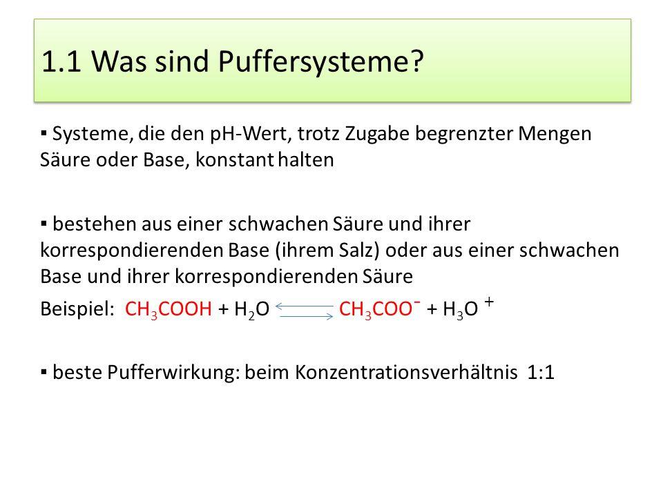 1.1 Was sind Puffersysteme?