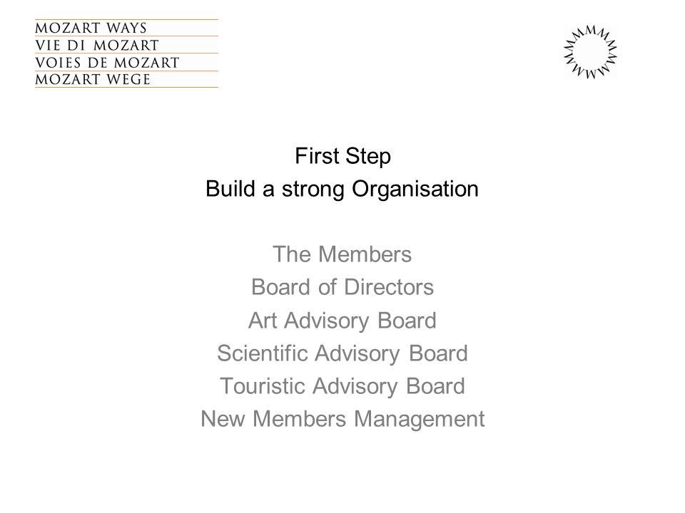The Touristic Comite' agreed in 2003 on the following Strategy Points HOW WE SEE OURSELF: 1.