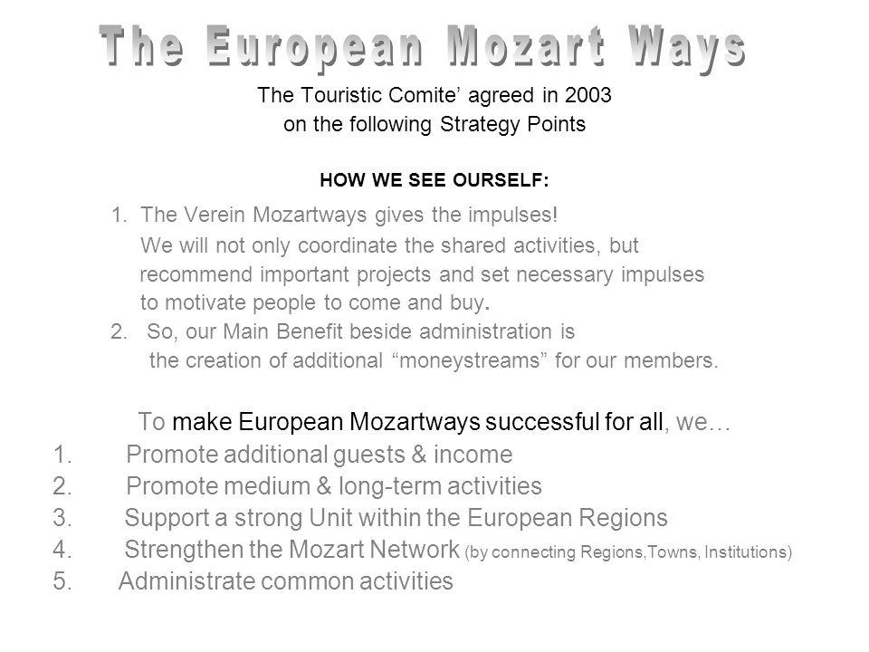 "Second Step Support the (touristic relevant) Offer The Mozartways Ideas Pool The ""Veranstaltungskalender Mozart Preserving Activities Various Eventplatforms Mozartway Exhibition"