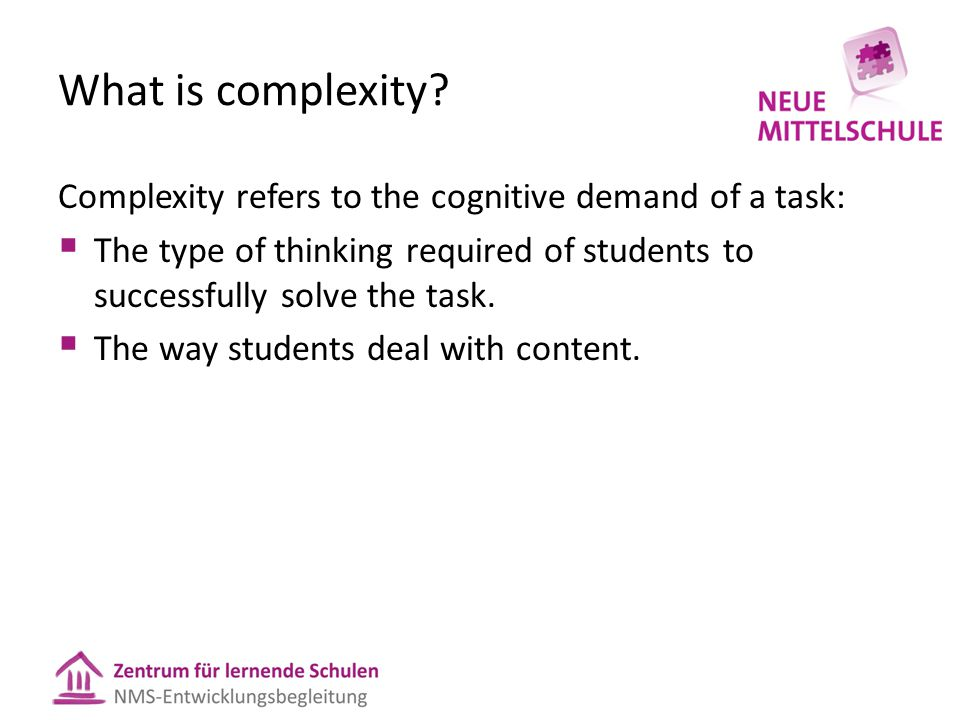What is complexity.