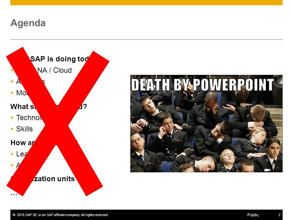 ©2015 SAP SE or an SAP affiliate company. All rights reserved.13 Public Dark side of the Moon