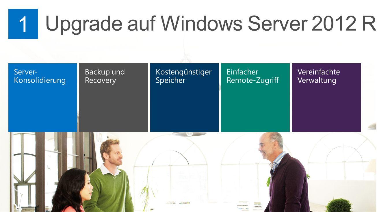 Windows Server 2012 R2 Windows Server 2003 Windows Small Business Server 2003 Server-Konsolidierung Live Migration Die Möglichkeit, virtuelle Maschinen einfach zwischen verschiedenen Servern (Hosts) zu verschieben.