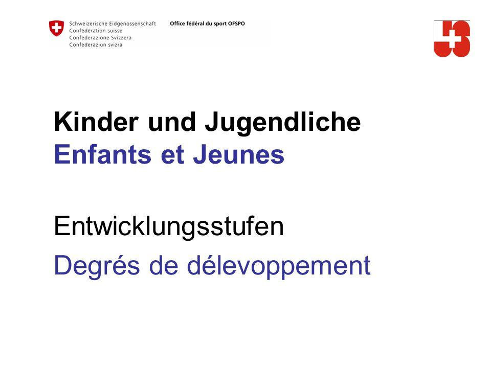 Kinder und Jugendliche Enfants et Jeunes Entwicklungsstufen Degrés de délevoppement