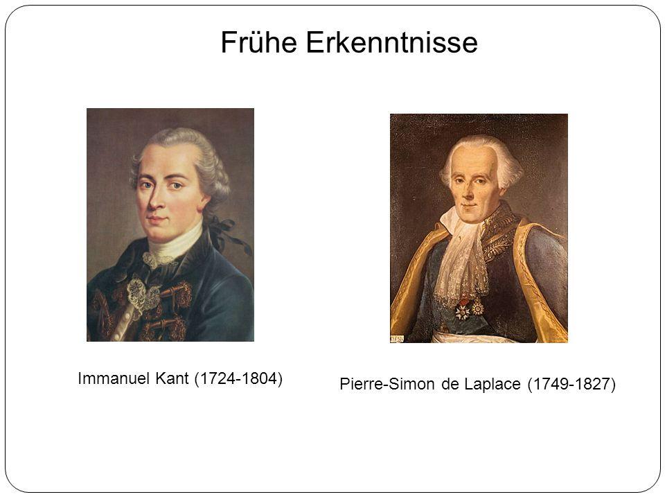 Frühe Erkenntnisse Immanuel Kant (1724-1804) Pierre-Simon de Laplace (1749-1827)