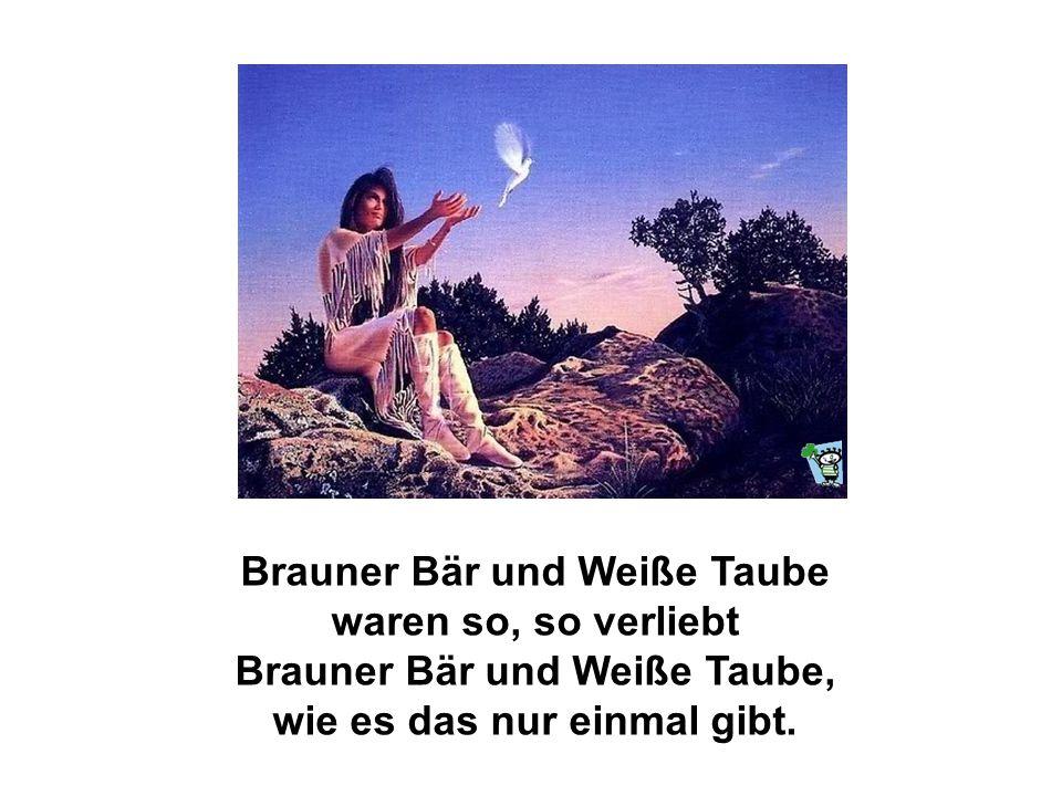 Brauner Bär war ein junger Indianer mit roter Haut, und er träumte, Weiße Taube wäre seine Indianer-Braut. Aber leider ging für beide mit der Liebe al