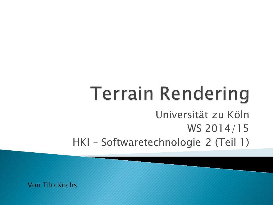 Universität zu Köln WS 2014/15 HKI – Softwaretechnologie 2 (Teil 1) Von Tilo Kochs
